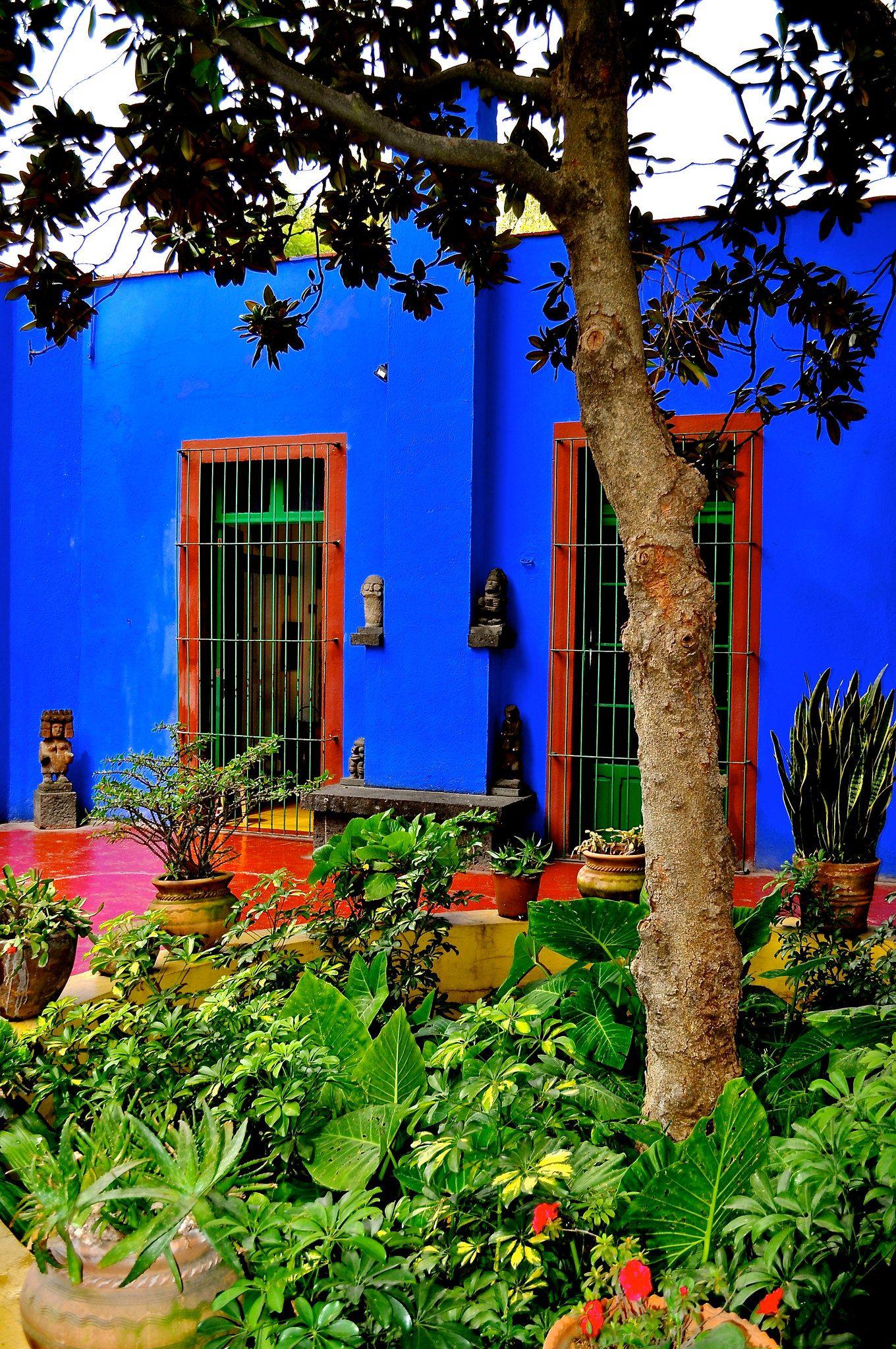 Casa Azul Frida Kahlo Diego Rivera Mexican Garden Frida And Diego Diego Rivera