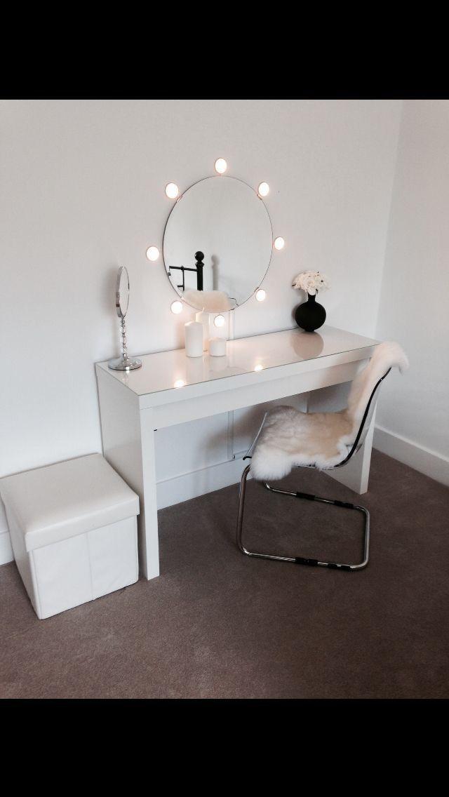 Oval Mirror Vanity Decoracao Sala Penteadeira Malm Decoracao