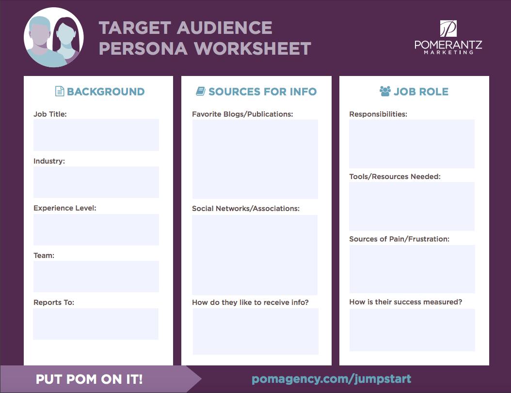B2B Target Market Personas Pomerantz Marketing