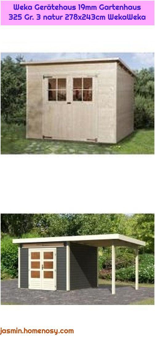 1. WoodFeeling Gartenhaus 28 mm Kandern 6 grau Anbau 240cm