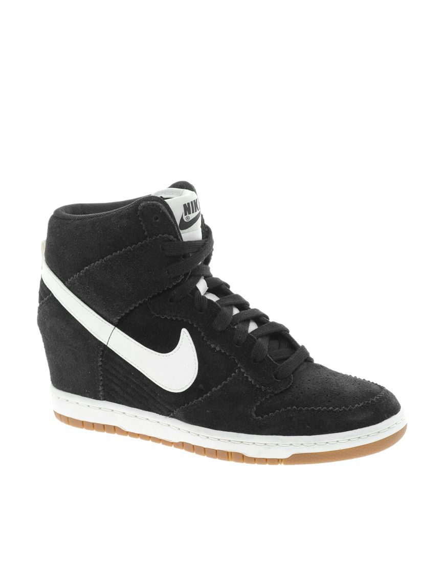 Dunk Asos Sporty High At Nike Wedge Trainers Black Sky qCpxwda