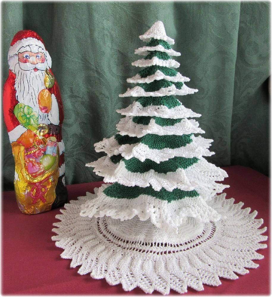 Knitted Christmas Tree | Christmas tree, Christmas knitting and ...