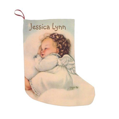 Personalized baby angel wings double sided small christmas stocking personalized baby angel wings double sided small christmas stocking christmas stockings merry xmas cyo family gifts presents negle Choice Image