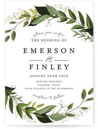 Vines of green wedding invitations green weddings weddings and vines of green wedding invitations junglespirit Choice Image