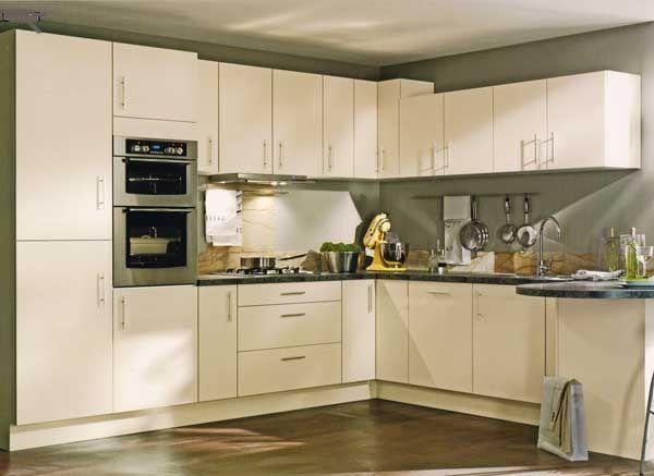 Cream Kitchen, Cream Matt Kitchen - Violet Designs | kitchen ...