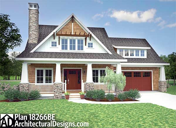 Plan 18266BE: Storybook Bungalow With Screened Porch   Casas ...