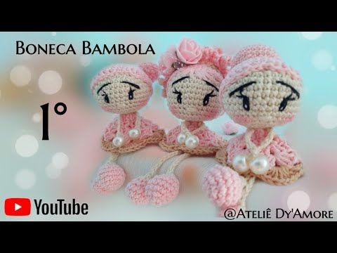 Bambola amigurumi, com Joy Petschow - YouTube