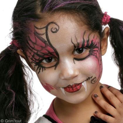 Maquillage Halloween  Draculaura de Monster High , Idées conseils et tuto  Maquillage. Maquillage Vampire EnfantMaquillage Pour EnfantsTuto