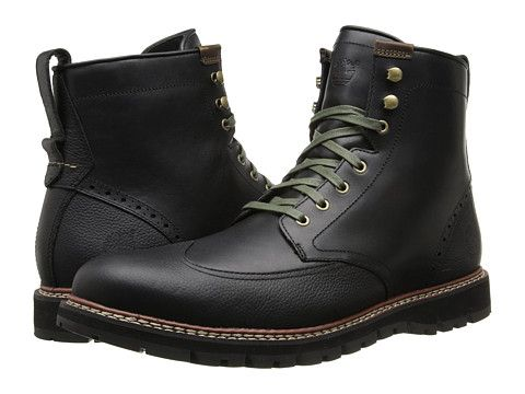 8c51a449c49 Timberland Earthkeepers® Britton Hill Wing Tip Boot Waterproof Black Smooth  - Zappos.com Free Shipping BOTH Ways