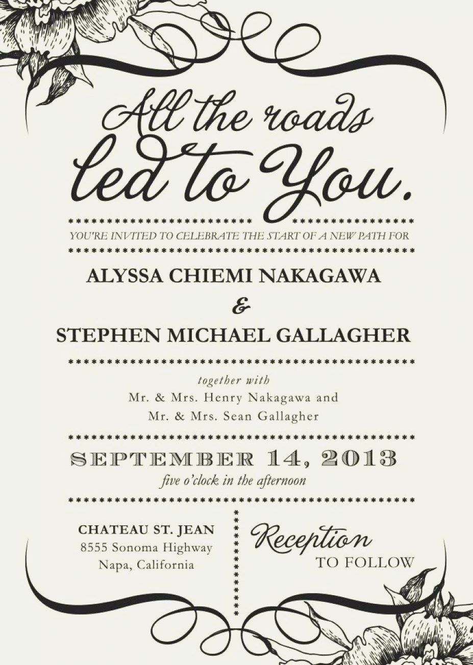 35 Creative Image Of What To Say On A Wedding Invitation