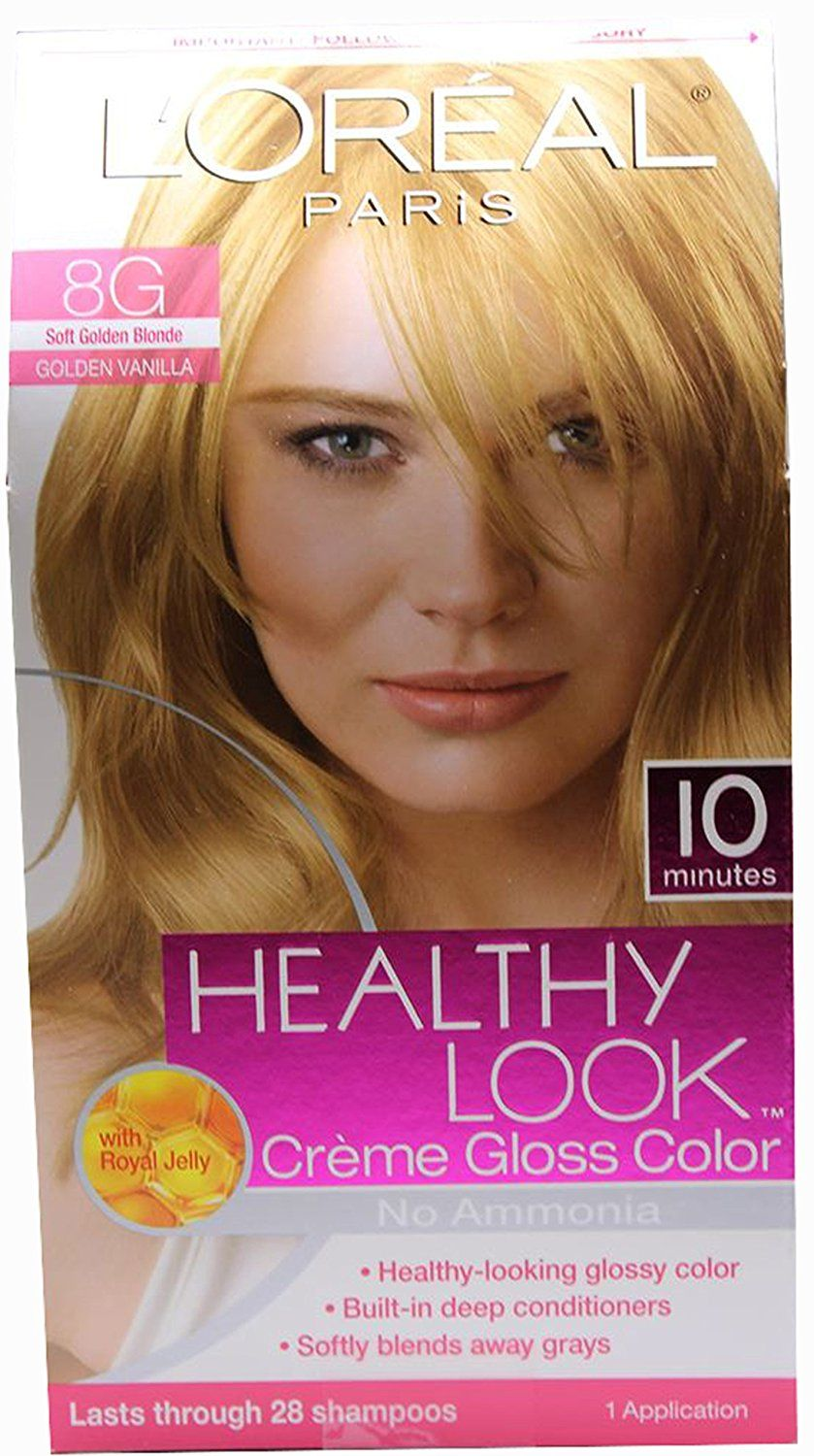 Loreal Paris Healthy Look Crme Gloss Soft Golden Blonde 8g Pack