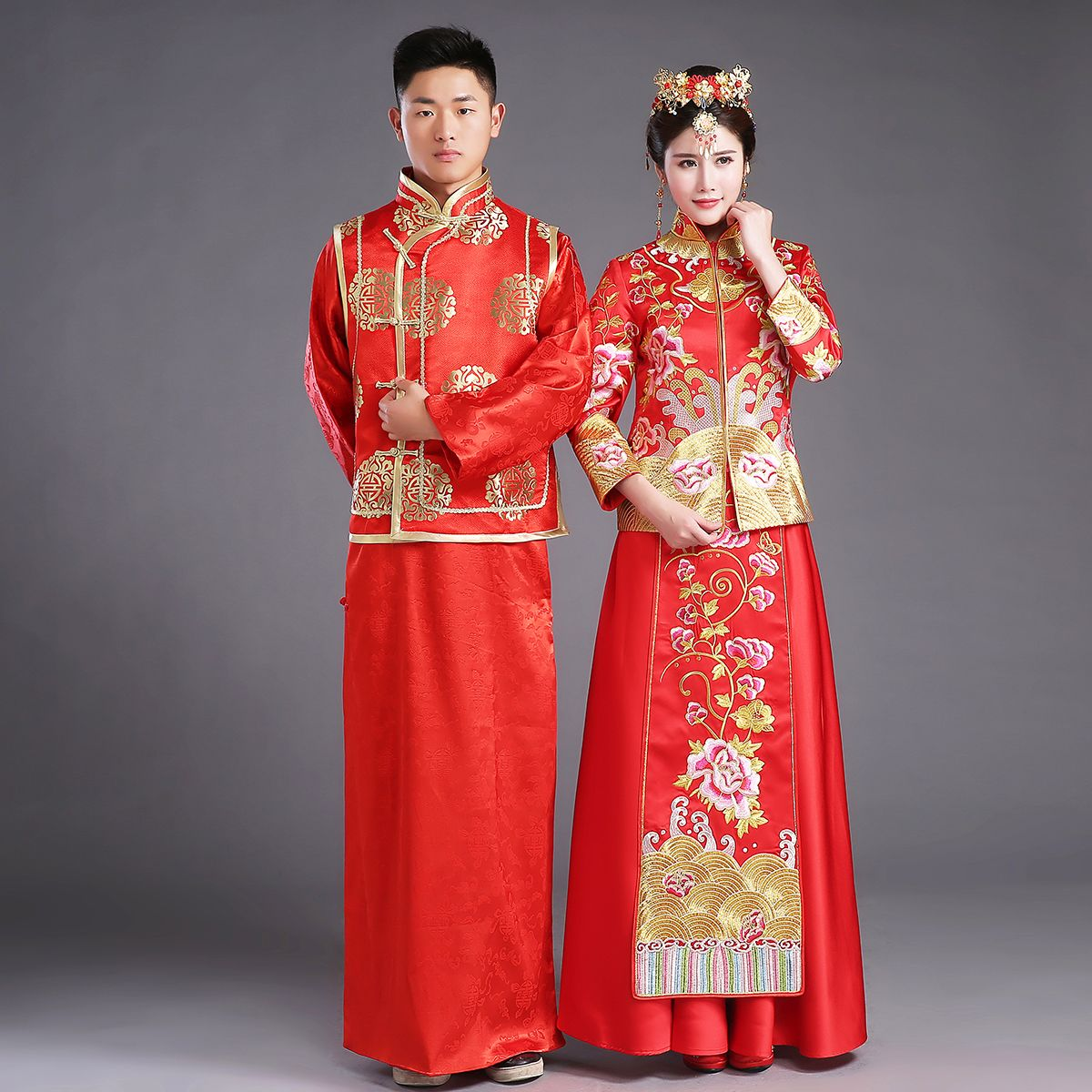 Click to buy ucuc chinese traditional bride clothing pratensis style