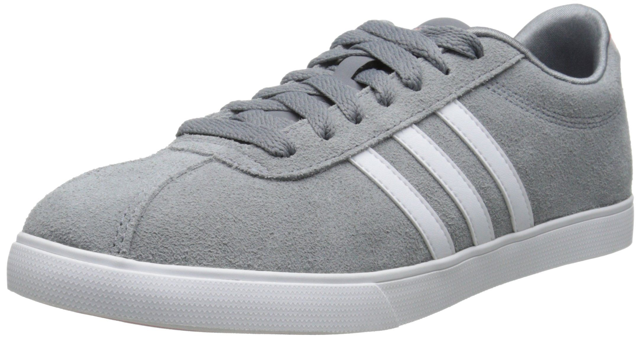 cheap for discount 4b927 f7fcb adidas NEO Women s Courtset Sneaker, Grey White Pink, 8 M US   Amazon.com