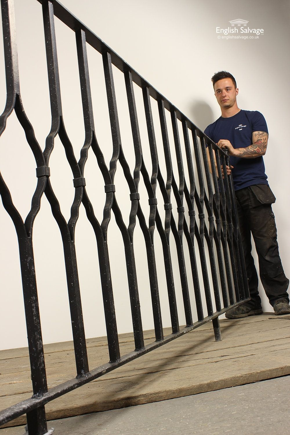 Best Salvaged Wrought Iron Black Painted Railing Balcony 400 x 300