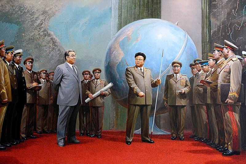The Kim's show their generals who has the best plan for taking over the world.
