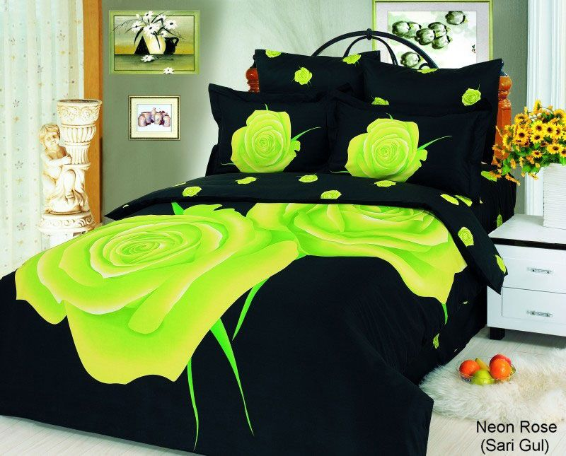 bold beautiful floral duvet with lots of sassy style neon rose
