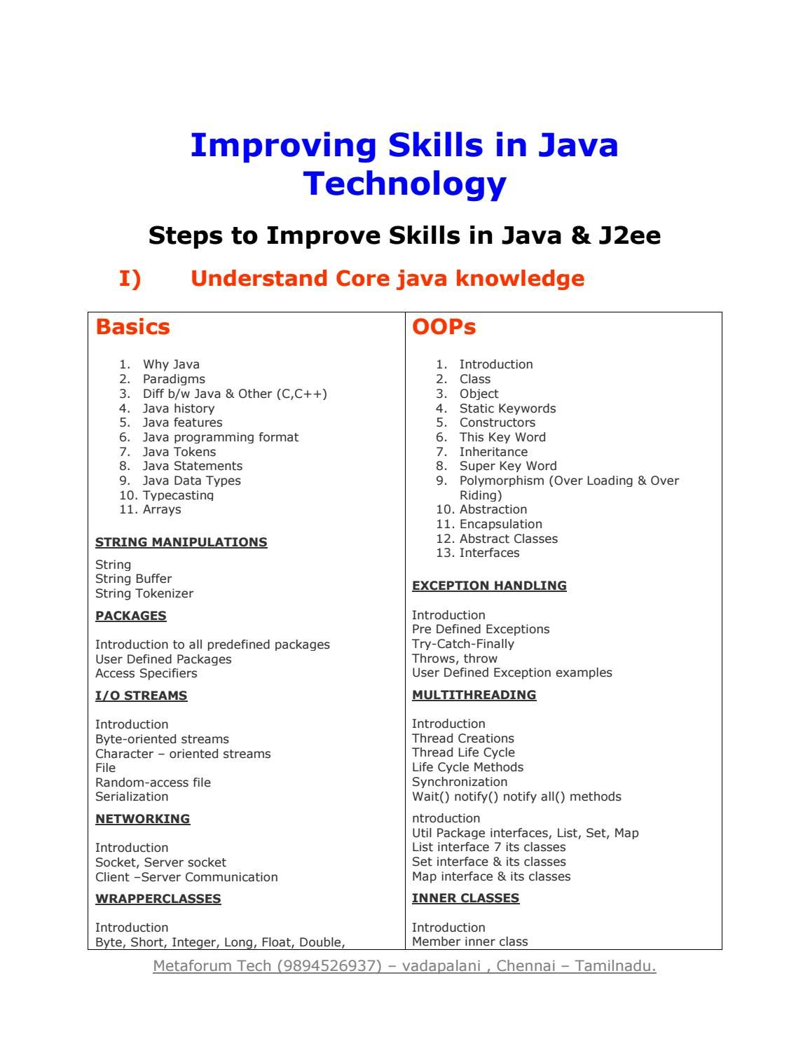 Best Java And J2ee Training Institute In Chennai In 2020 Object