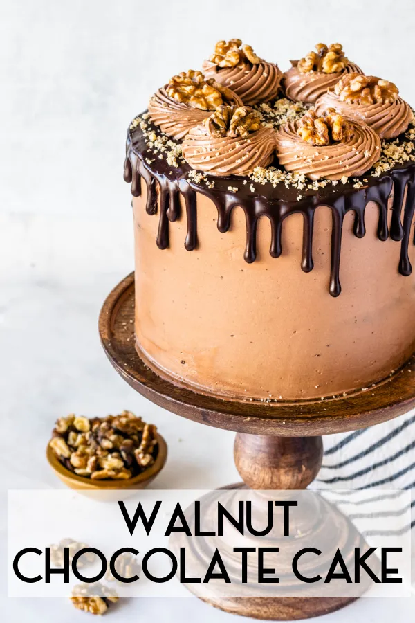 Walnut Chocolate Cake Recipe In 2020 Cake Milk Dessert Chocolate Dessert Recipes