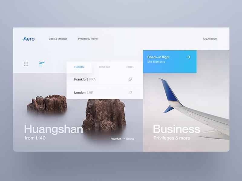 Aero Flight Booking Touch Screen Design Concept Design Website Design