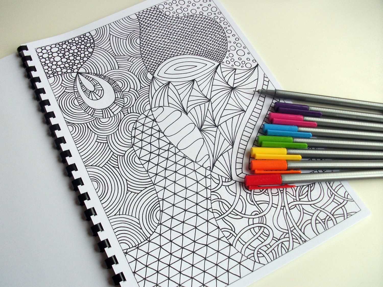 Intricate Coloring Pages For Adults : Coloring book zentangle inspired printable от joartyjo на etsy