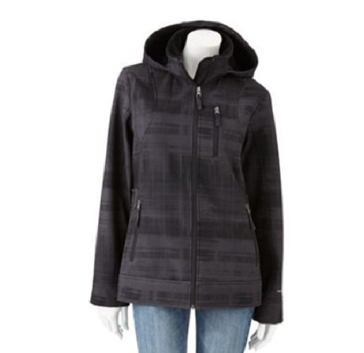 Nwt Ladies Free Country Hooded Plaid Soft Shell Jacket In