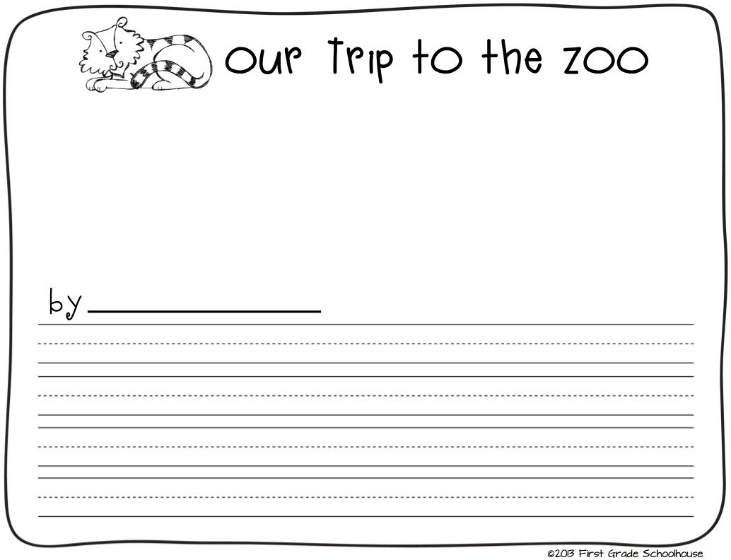 Zoo Animals Writing Teaching