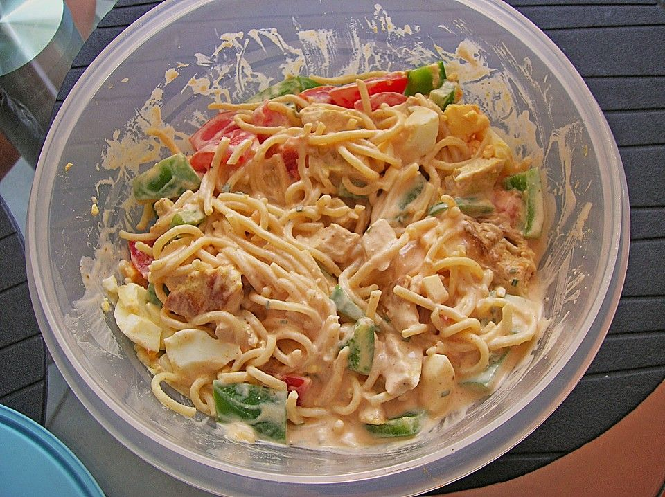 Spaghettisalat a la Schateffi, ein schmackhaftes Rezept aus der Kategorie Fleisch & Wurst. Bewertungen: 31. Durchschnitt: Ø 4,1.