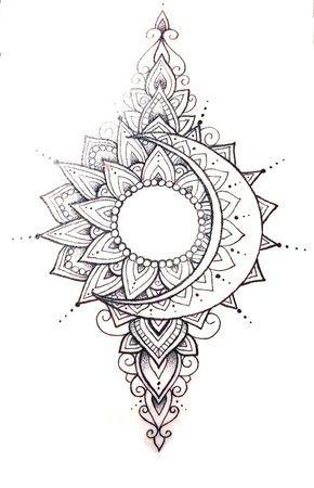 Best 12 Want More Follow Ryiahheartz For More Sleeve Tattoos Moon Tattoo Designs Mandala Tattoo Design