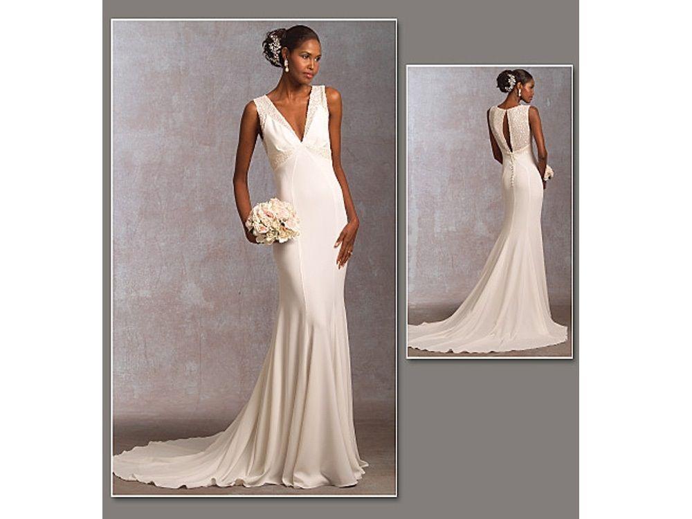 Schnittmuster Vogue 1032 Brautkleid | Brautkleid, Schnittmuster und ...