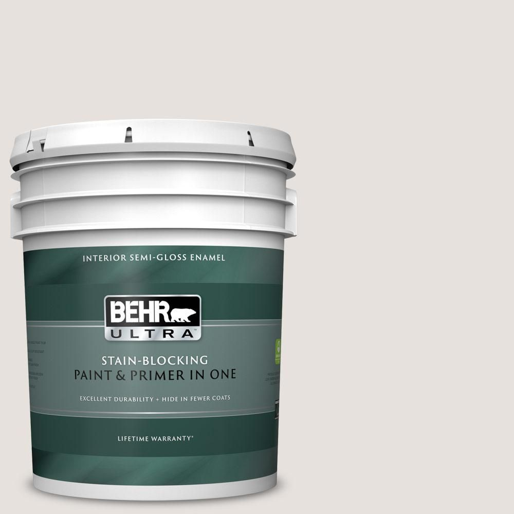 Behr Ultra 5 Gal N180 1 Barely Brown Semi Gloss Enamel Interior Paint And Primer In One 375005 Exterior Paint Behr Interior Paint