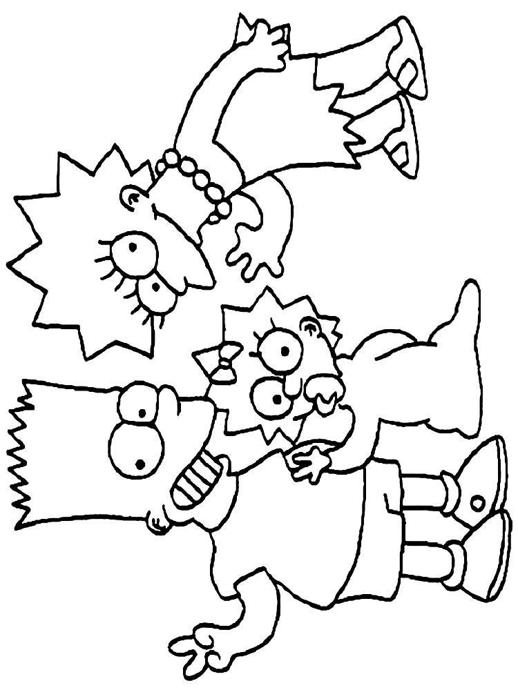 The Simpsons Christmas Coloring Pages Free The Following Is Our Collection Of The Simpsons Coloring Pa In 2020 Coloring Pages Simpsons Drawings Cartoon Coloring Pages