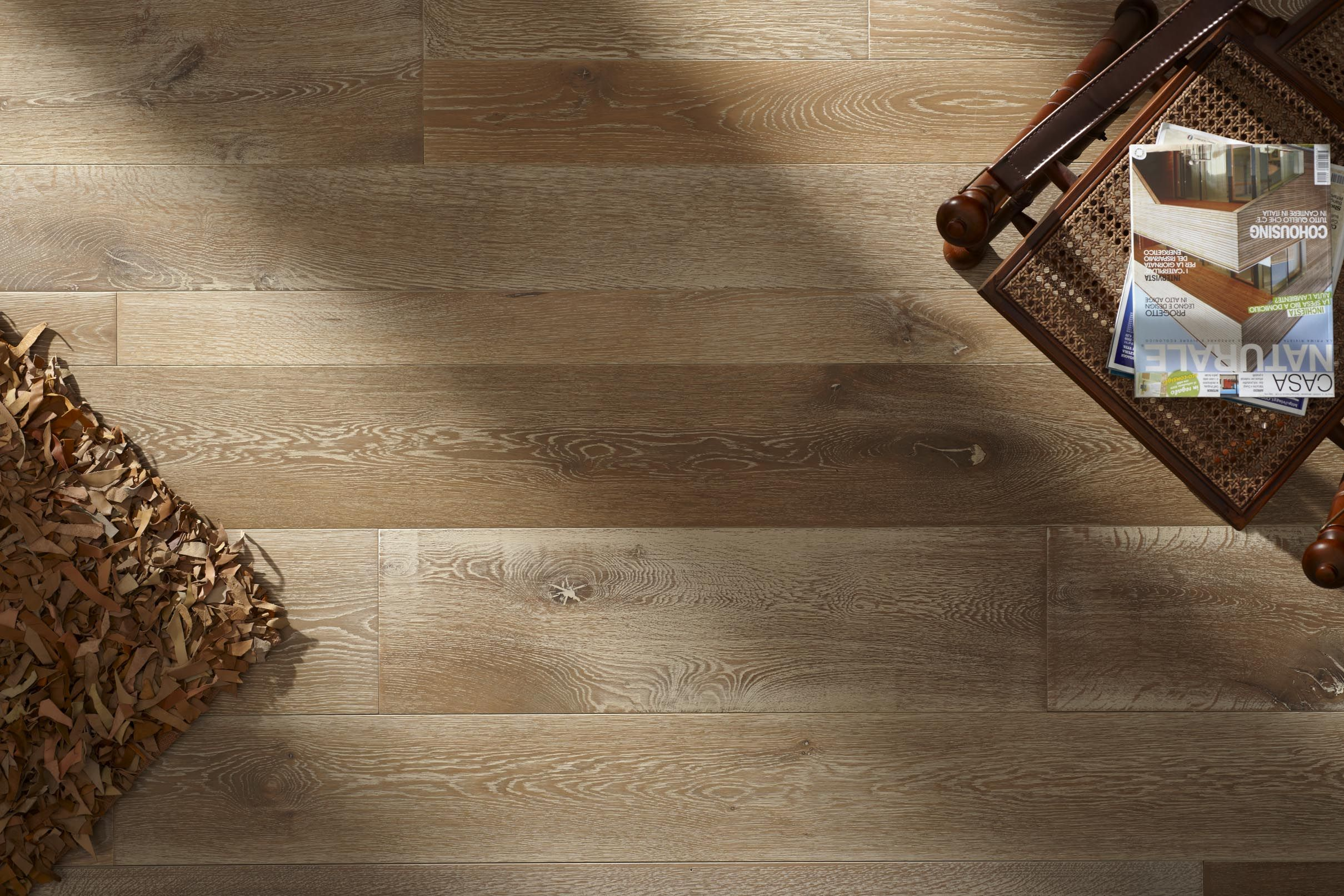 Vesuvio. The virtue of Naturalia parquet is solid Oak
