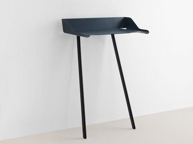 Table console rectangulaire en acier et bois STORCH by MOX design Nando Schmidlin