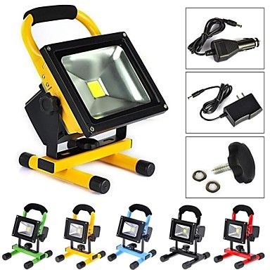 Waterproof+10W+1000LM+6500K+Cold+White+Light+Portable+Emergency+Rechargeable+LED+Flood+Lamp+(AC100-240V)+–+GBP+£+12.47