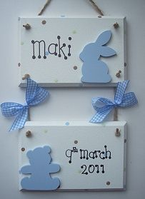 New baby gifts name plaques wall hangers keepsakes diy new baby gifts name plaques wall hangers keepsakes negle Image collections