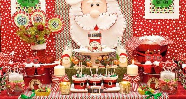 Cumplea os infantil inspirado en la navidad y en santa - Decoracion navidena infantil ...