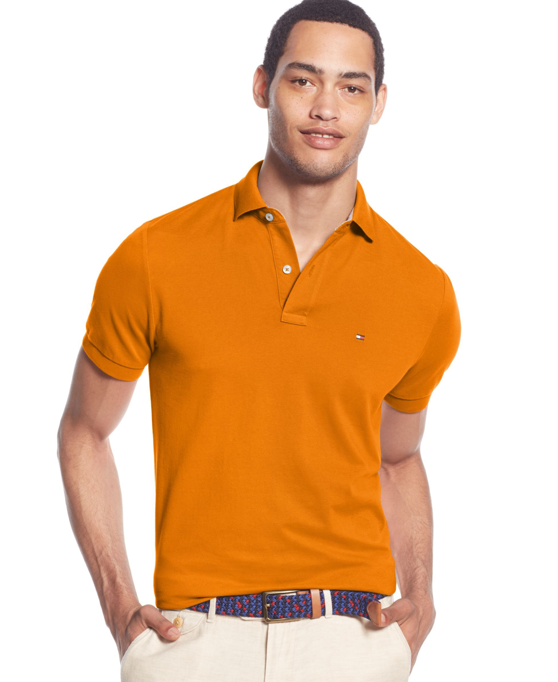 170404f44928a8 Tommy Hilfiger Men s Classic-Fit Ivy Polo