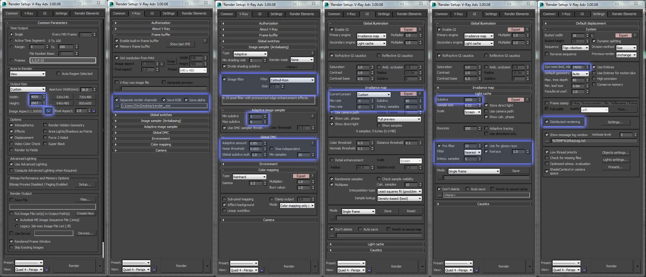 Render Settings High Quality Cropped Exterior Rendering Rendering Settings