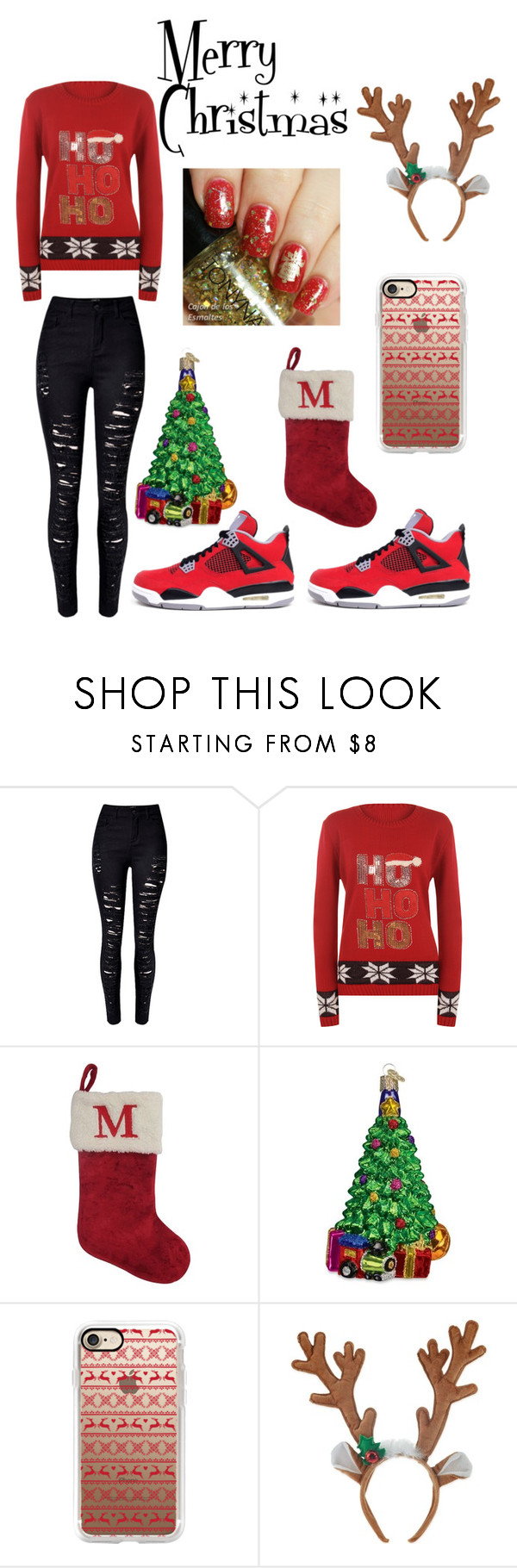 """MERRY CHRISTMAS: MCKENZIE"" by yoyoitzselena ❤ liked on Polyvore featuring WithChic, WearAll, St. Nicholas Square, Freaker, Old World Christmas and Casetify"