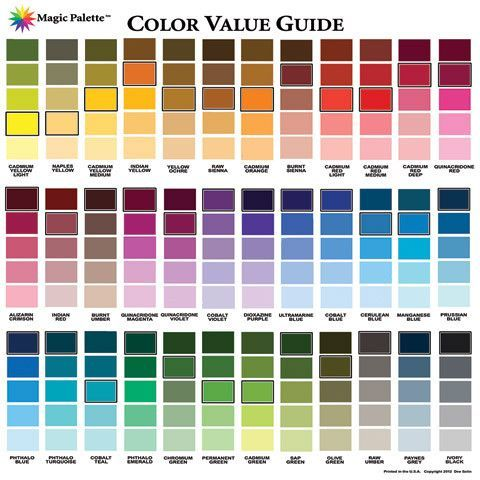 Magic Palette Artists Color Value Guide Color Theories