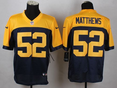 ... Green Bay Packers 52 Clay Matthews Navy Blue Alternate Mens Stitched NFL  New Elite Jersey ... 039a38b79