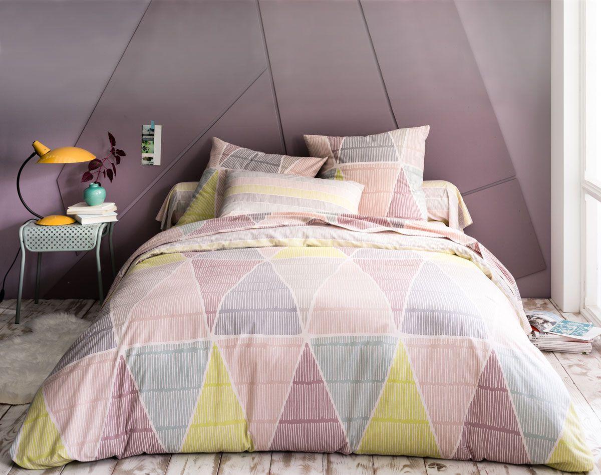 lgance et simplicit pour ce linge de lit aux accents scandinaves si tendance on aime la puret des formes gomtriques la douceur des couleurs pastel - Linge De Lit Scandinave