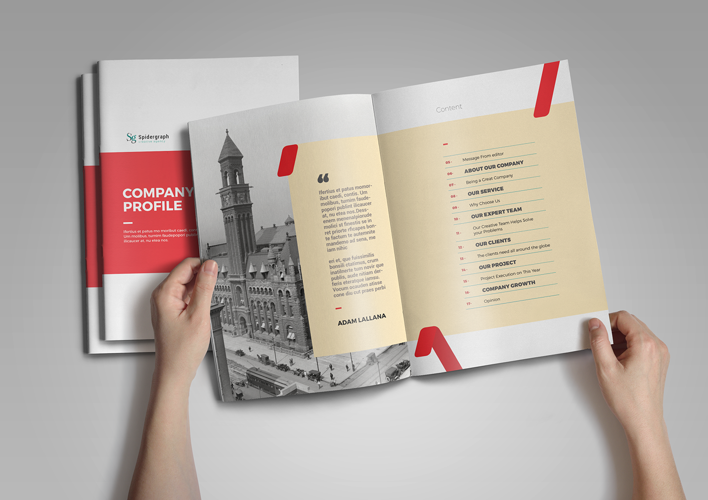 Company Profie On Behance Company Profile Template Company Brochure