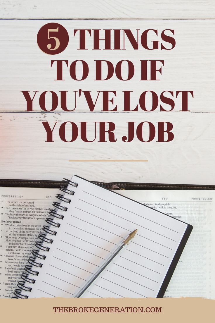 5 Things to Do If You've Lost Your Job in 2020 Money