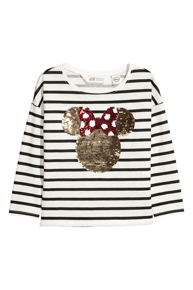 f88ae56fe Camiseta con lentejuelas - Blanco Minnie Mouse - NIÑOS