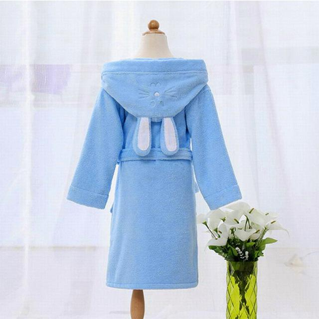 e12dababe7 Hooded Towel Child Bathrobe Kids Boys Girls Robe Cotton Lovely Bath Robes  Dressing Gown Roupao Kids Sleepwear with Belts Retail