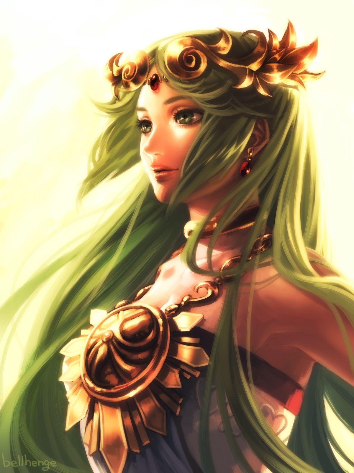 Goddess Palutena By Bellhengedeviantart On
