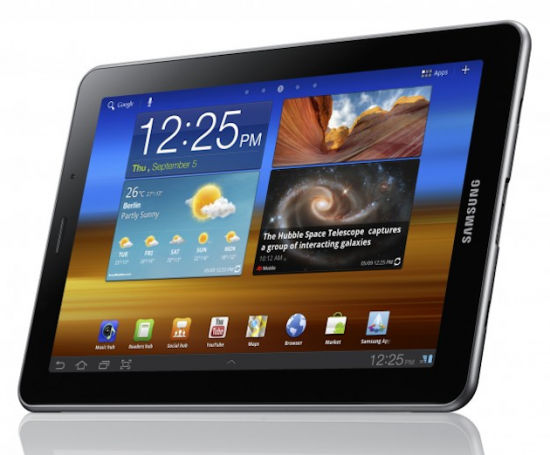 4g Lte Samsung Galaxy Tab 7 7 The Device Features A 7 7 Inch Super Amoled Plus Display Providing A Gorgeous 1280 X 800 Pictur Galaxy Tablet Galaxy Tab Tablet