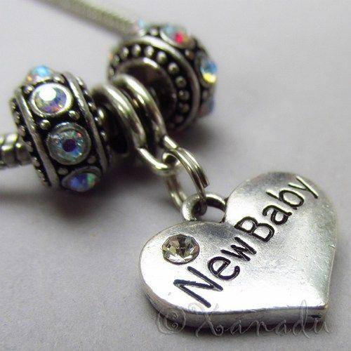 New Baby European Heart Birthstone Trio For Large Hole Charm Bracelets