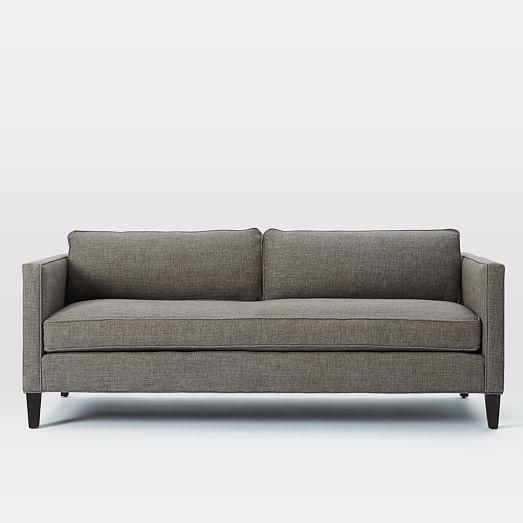 Dunham Down Filled Sofa   Box Cushion | West Elm Pebble Weave Shale